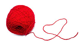 Ball of threads and the heart Stock Image