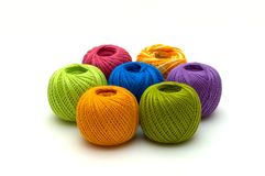 The ball of threads isolated Stock Images