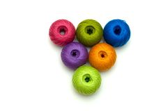 The ball of threads isolated Royalty Free Stock Photo