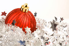 The ball with tinsel Royalty Free Stock Photo
