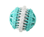 Ball toy for dog. Ball toy for dog on white background Royalty Free Stock Image