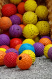 Ball toy for dogs objects group detail. Ball toy for dogs objects group royalty free stock images