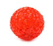 Ball toy red for pets. This is a red ball for pets Royalty Free Stock Photo