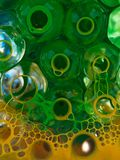Ball transparent liquid with yellow green Stock Image