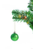 Ball on Tree Merry Christmas and Happy New Year Stock Photography