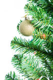 Ball on Tree Merry Christmas and Happy New Year Stock Images