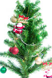 Ball on Tree Merry Christmas and Happy New Year Stock Photos