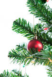 Ball on Tree Merry Christmas and Happy New Year Stock Image