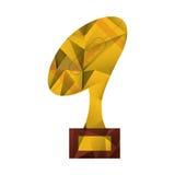 Ball trophy shape american football award abstract Stock Image