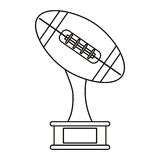 Ball trophy shape american football award outline Royalty Free Stock Image