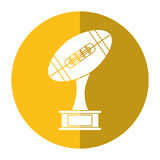 Ball trophy shape american football award shadow. Vector illustration eps 10 Stock Images