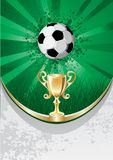 BALL & TROPHY VECTOR Stock Images