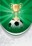 BALL & TROPHY VECTOR Stock Image