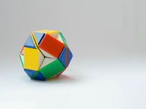 Ball twist toy. Front view of ball twist rubik toy white background stock images