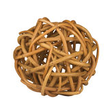 Ball of twisted branches. A ball of twisted wood branches isolated on white background Stock Image