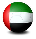 A ball with the UAE flag Stock Photography
