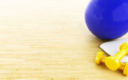Ball und Gewichte der Eignung 3d Stockfoto
