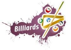 Ball und Stichwort für Billardspiel Stockfotografie