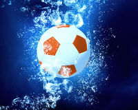 Ball under water Royalty Free Stock Photography