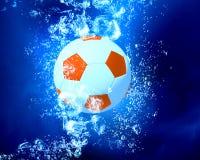Ball under water Stock Photo