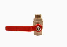 Ball valve. Against a white background Stock Images