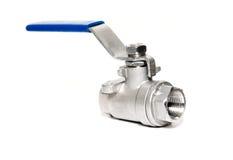 Ball valve. On white Royalty Free Stock Images