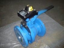Ball valve limit switch mounted Cair make. Ball valve limit switch mounted Cair euromatic automation pvt ltd make stock image