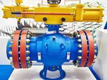 Ball valve for oil and gas industry. At the exhibition Stock Image