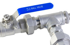 Ball valve and pipe Royalty Free Stock Image