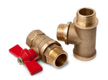 Ball valve and tee Stock Photos