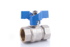 Ball valve. On a white background Stock Photography
