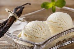 Ball of vanilla ice cream Stock Image