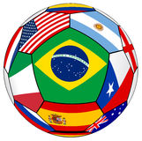 Ball With Various Flags Royalty Free Stock Image