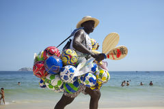 Ball Vendor Ipanema Beach Rio de Janeiro Brazil Royalty Free Stock Photo