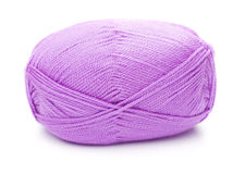 Ball of violet threads Royalty Free Stock Photos