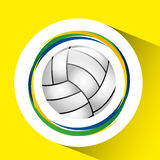 Ball volleyball olympic games brazilian flag colors. Vector illustration eps 10 Stock Images