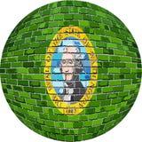 Ball with Washington flag - Illustration Royalty Free Stock Images