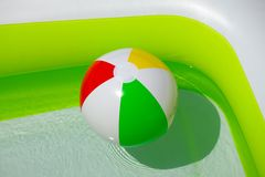 Ball in the water Stock Photography