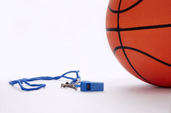 Ball and whistle 2. Ball and whistle on a white background Stock Image