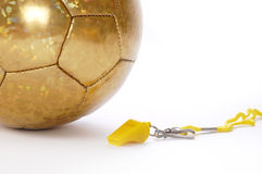 Ball and whistle 3. Ball and whistle on a white background Stock Photography