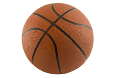 Ball on white. Classic basketball isolated on white Stock Photo