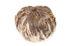 Ball of white tea. Isolated ball of white tea. hand - made Stock Photo