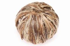 Ball of white tea. Isolated ball of white tea. hand - made Stock Image