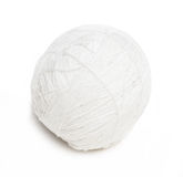 Ball of white yarn Royalty Free Stock Photo