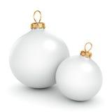 Ball Wiedergabe 3D weißer Weihnacht Stockfotos