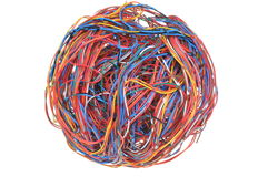 Ball of wires Stock Image