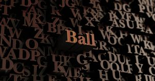 Ball - Wooden 3D rendered letters/message. Can be used for an online banner ad or a print postcard Royalty Free Stock Photos