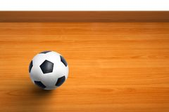 A ball on wooden floor as background Royalty Free Stock Images