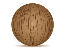 Ball wooden texture Royalty Free Stock Photography