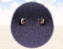 Ball of wool. With eyes Stock Photo